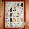 Cats Galore Tea Towel Linen Teatowel