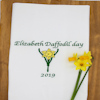 Personalised Tea Towel Daffodil Embroidered Tea Towel