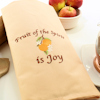Peach Tea Towel Fruits of the Spirit is Joy