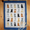 Kittens Arrived Linen Cats Tea Towel