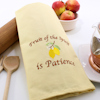 Yellow Tea Towel Fruits of the Spirit is Patience