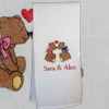 Personalised Tea Towel Kissin Bears