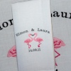 Flirting Flamingos Personalised Towel
