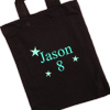 Personalised Party Bag Black Mini Tote Goody Bag