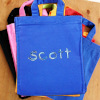 Personalised Goody Bag Blue Cotton Mini Tote Bag