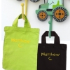 Personalised Party Bag Green Mini Tote Goody Bag
