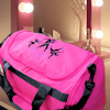 Personalised Dance Bag Pink Holdall Hip Hop Embroidered