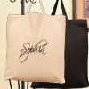 Embroidered Tote Bag Short Handle Personalised Signature