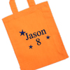 Personalised Party Bag Orange Cotton Goody Bag