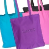 Embroidered Tote Bag Personalised Purple Cotton Gusset Bag