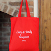 Red Cotton Tote Bag