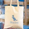 Personalised Book Bag Embroidered Cotton Tote Bag