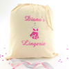 Personalised Lingerie Bag Embroidered Drawstring Underwear Bag