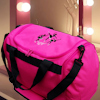Personalised Dance Bag Pink Canvas Holdall Ballet Dancers