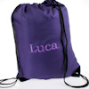 Personalised Gym Bag Purple PE Swim Sack