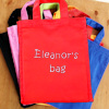 Personalised Goody Bag Red Cotton Mini Tote Bag