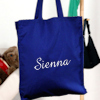 Royal Blue Shopper Personalised Cotton Tote Bag