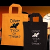 Trick or Treat Bat Embroidered Cotton Tote