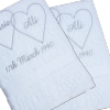 Hearts Bath Towels Personalised Entwined Hearts