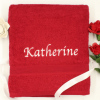 Personalised Towel Berry Red XL Bath Sheet