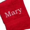 Personalised Towel Berry Red Bath Towel