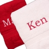 Personalised Berry and White Bath Towels