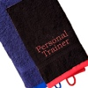 Gym Towel Personalised Gym Towel Black with Red Trim