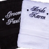Bride and Groom Towels Personalised Wedding Gift Towel Set