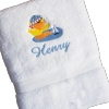 Boys Bath Towel Kids Embroidered Personalised Bath Towel Gift