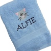 Cat Embroidered Bath Towel