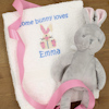 Bunny Rabbit Hand Towel Embroidered Easter Gift