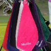 Personalised Golf Towel Dark Pink Golfing Towel