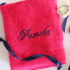 Personalised Towel Hot Pink XL Bath Sheet