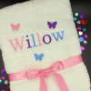 Personalised Childs Towel Girls Butterflies Towel