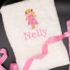 Childrens Towel Personalised Bath Towel Doll Motif