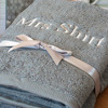 Personalised Towels Grey Bath Towel Set