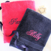 Bath Sheets Navy and Pink