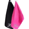 Personalised Golf Towels Pink and Black