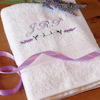 Personalised Towel Lavender Flowers Towel