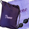 Personalised Swimming Towel Lilac Gym and Swim Set