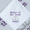 Wedding Handkerchief Mother of the Bride Ladies Hanky