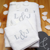 Personalised Anniversary Towels Monogrammed 3pc Gift Set