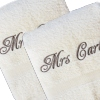 His and Hers Cream Towels