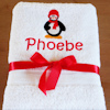 Penguin Towel Kids Embroidered Bath Towel