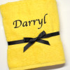 Bright Yellow Luxury Cotton Towel
