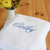 Personalised White Bath Sheet XL Cotton Towel