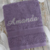 Aubergine Purple Bath Towel