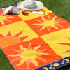 Personalised Beach Towel Aztec Sun Egyptian Cotton