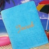 Personalised Beach Towels Teal Sunbathing Sheet