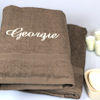 Personalised Towels Set Bath Sheets Brown Gift Set